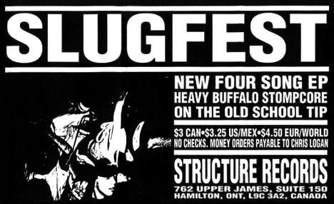 """Structure Records ad for the Slugfest 7"""""""