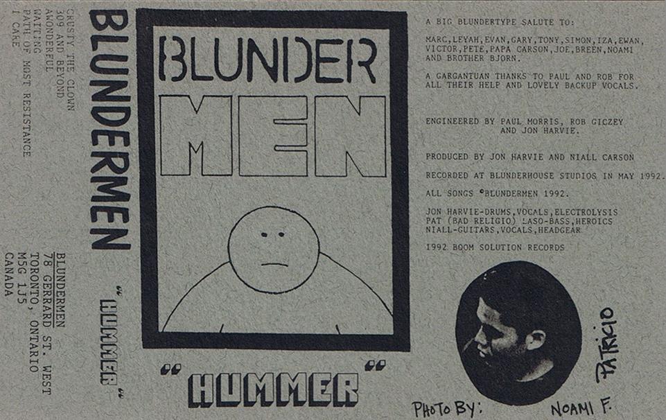 "Blundermen's ""Hummer"" demo tape, Boom Sound Records, June 1992"