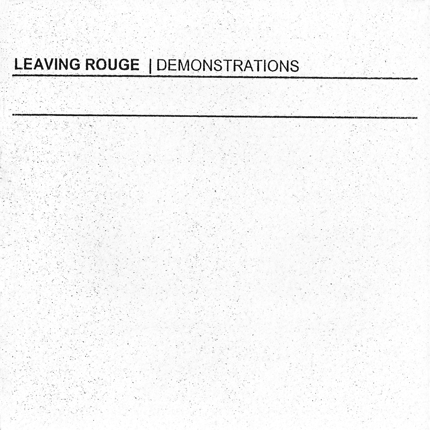"C.A.S.S. Works #10 - Leaving Rouge ""Demonstrations"", CD, 2002"