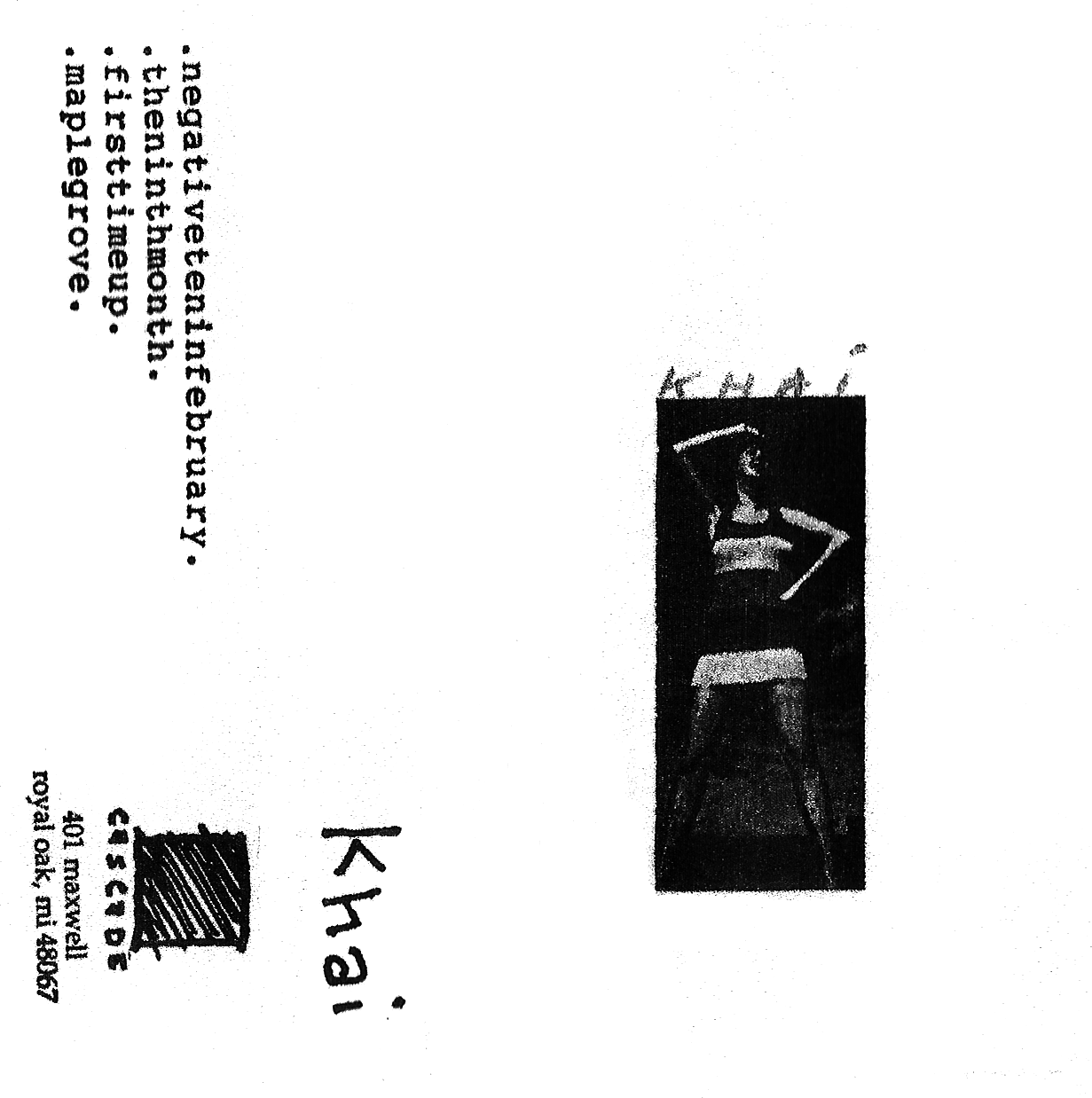 "Cascade Records 3º - Khai ""Demo"", tape, 1996"