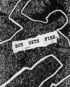 Boy Sets Fire stickers, Cascade Records, circa 1996