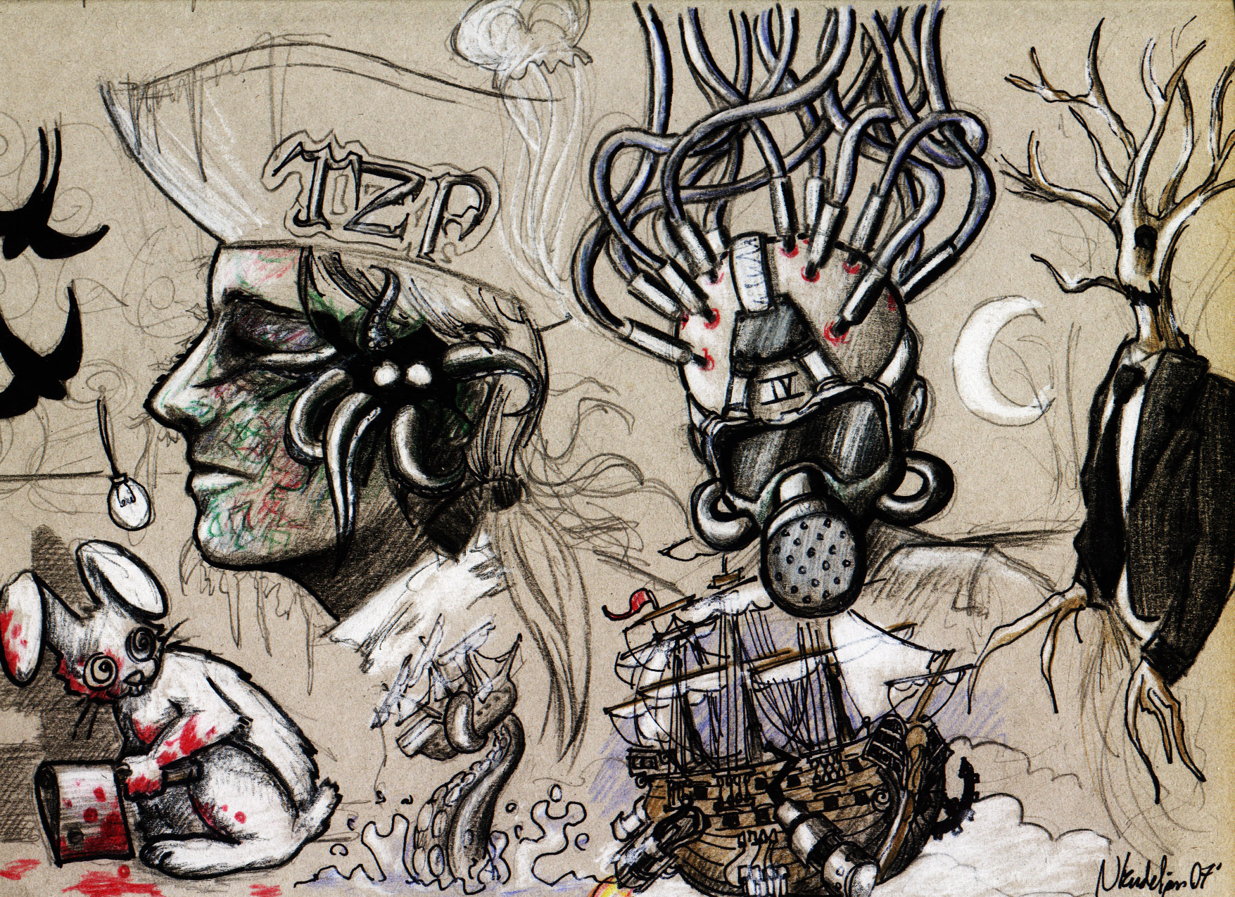 The first Zyphoid Process artwork ever created. October 2007, Nicolas Kudeljian