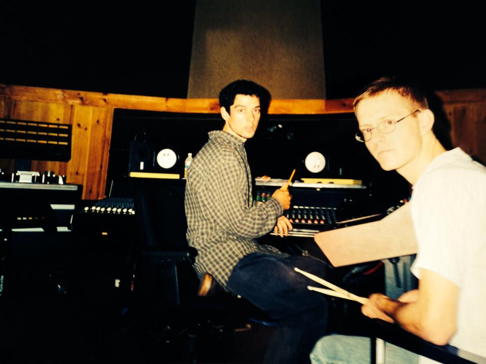 Jon Drew and Al Biddle at Signal 2 Noise Studio, January 1998