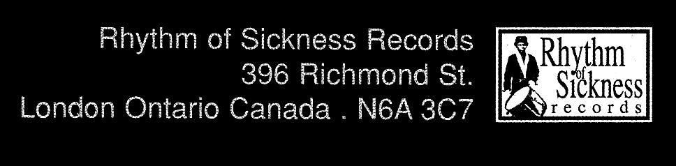 Rhythm of Sickness Records logo,courtesy of Michael Coll.