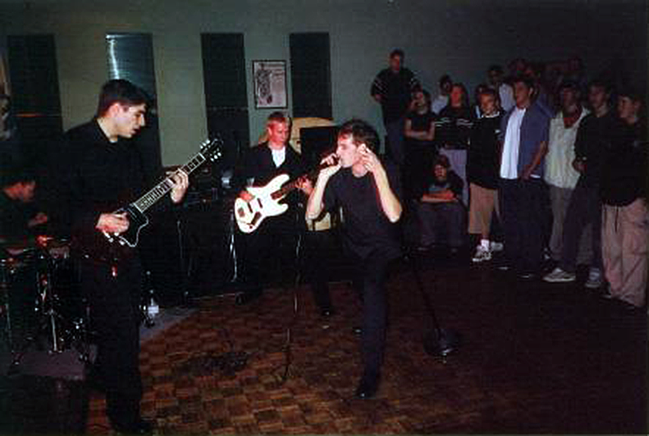 The Sneak Preview at their first show, September 30th 2000 at The Masonic Lodge in Maple, Ontario. Photo courtesy of Vicki Bonanno